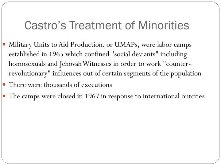 Castro's Treatment of Minorities