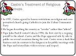 castro s treatment of religious groups2