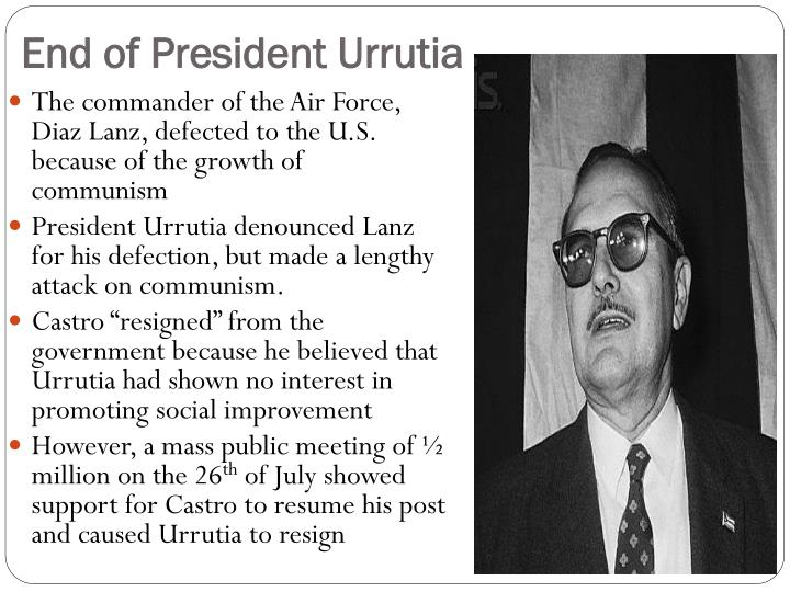 End of President Urrutia