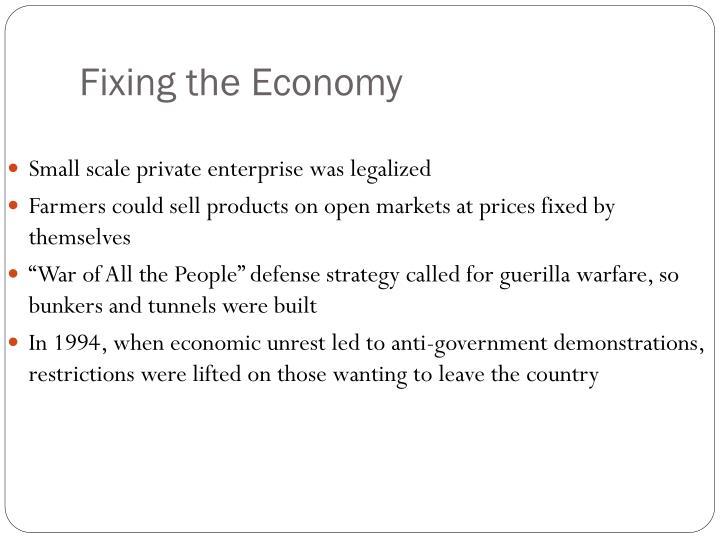 Fixing the Economy