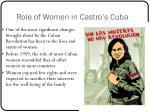 role of women in castro s cuba