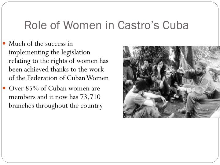 Role of Women in Castro's Cuba