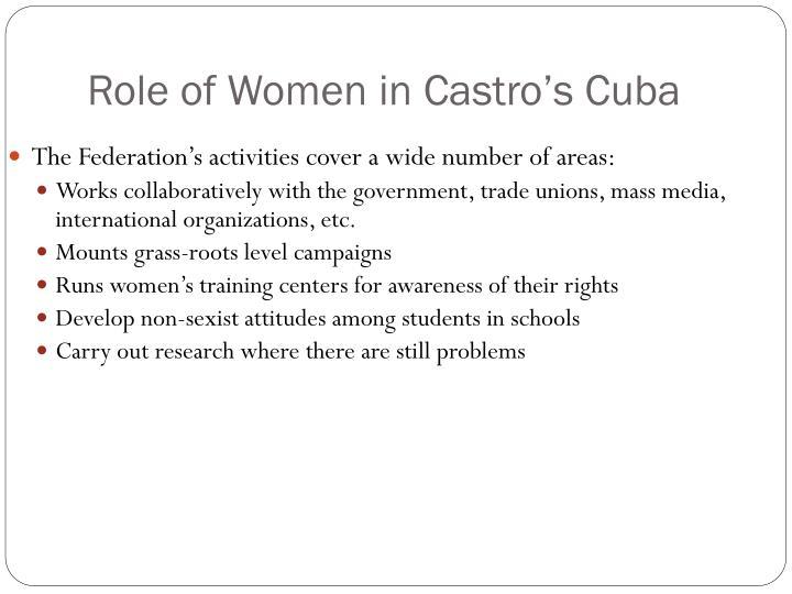Role of Women in Castro's Cuba
