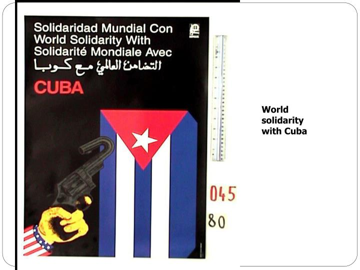 World solidarity with Cuba