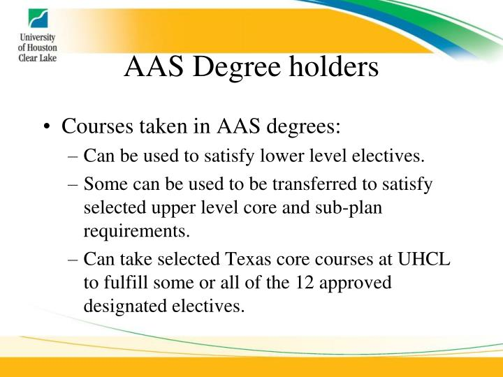 AAS Degree holders