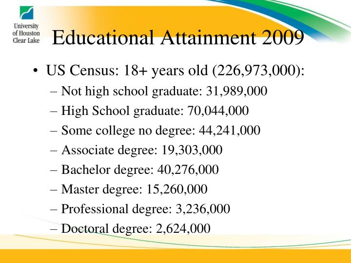 Educational Attainment 2009