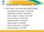 educational attainment 2009