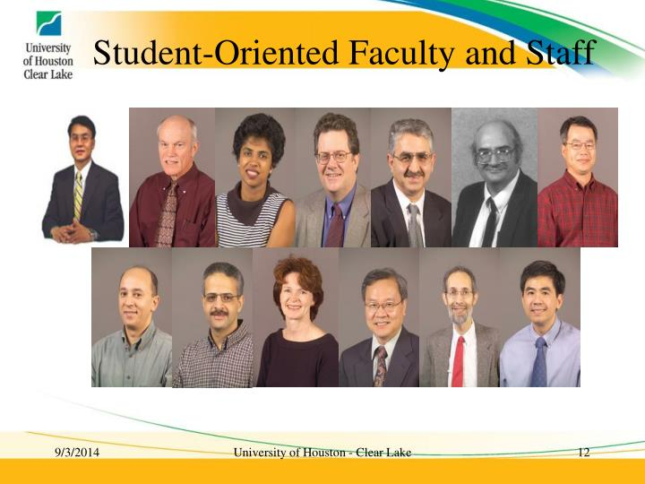 Student-Oriented Faculty and Staff