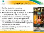 study at uhcl