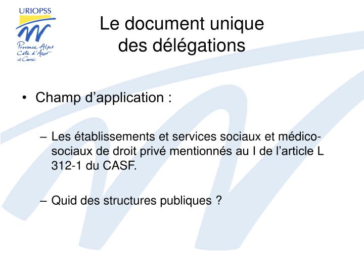 Le document unique
