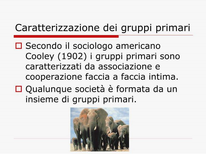 Caratterizzazione dei gruppi primari