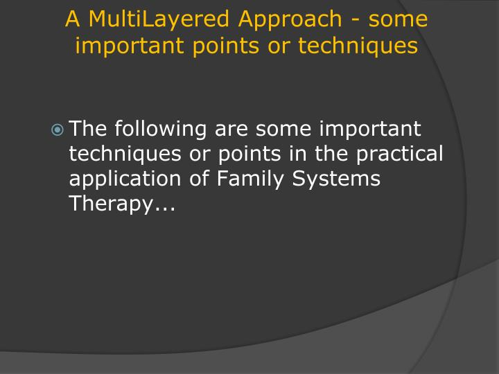 importance of family system Family-centered care and the pediatrician's role  provided additional validation of the importance of family-centered  a new health system for the 21st.