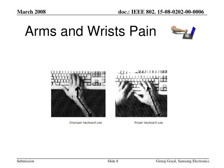 Arms and Wrists Pain