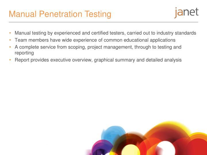 Manual Penetration Testing