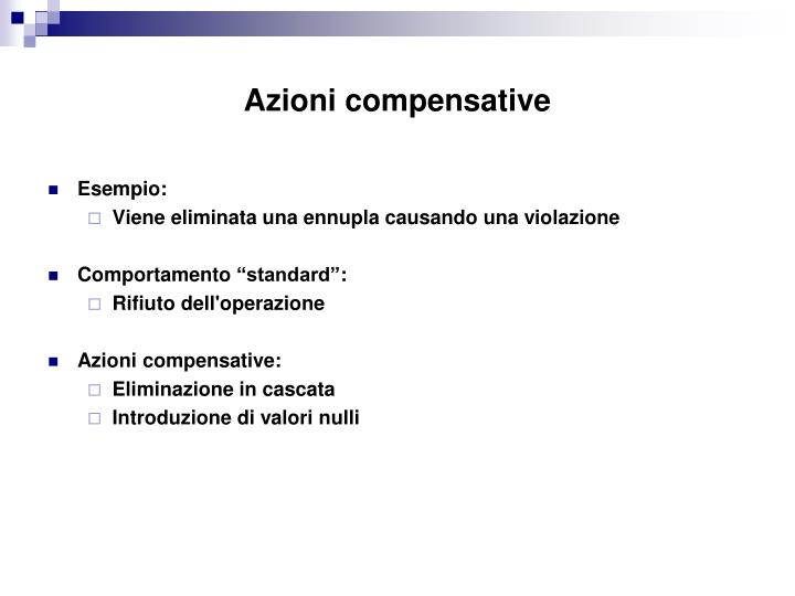 Azioni compensative