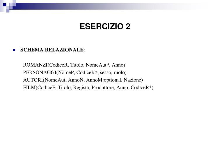 ESERCIZIO 2