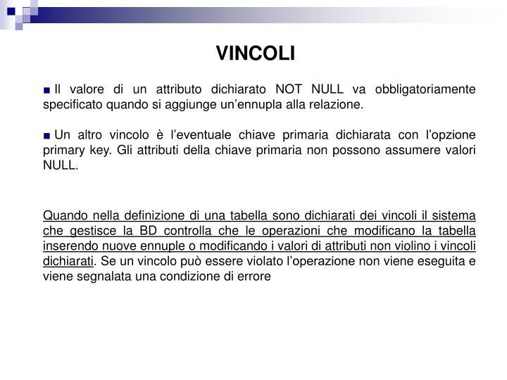 VINCOLI