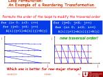 loop permutation an example of a reordering transformation