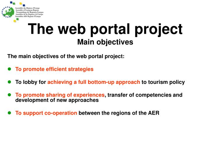 The web portal project