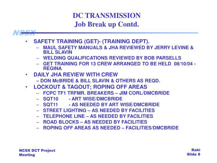 DC TRANSMISSION