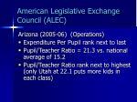 american legislative exchange council alec