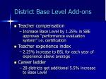district base level add ons