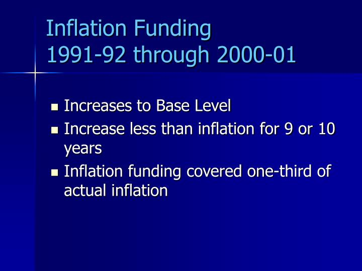 Inflation Funding