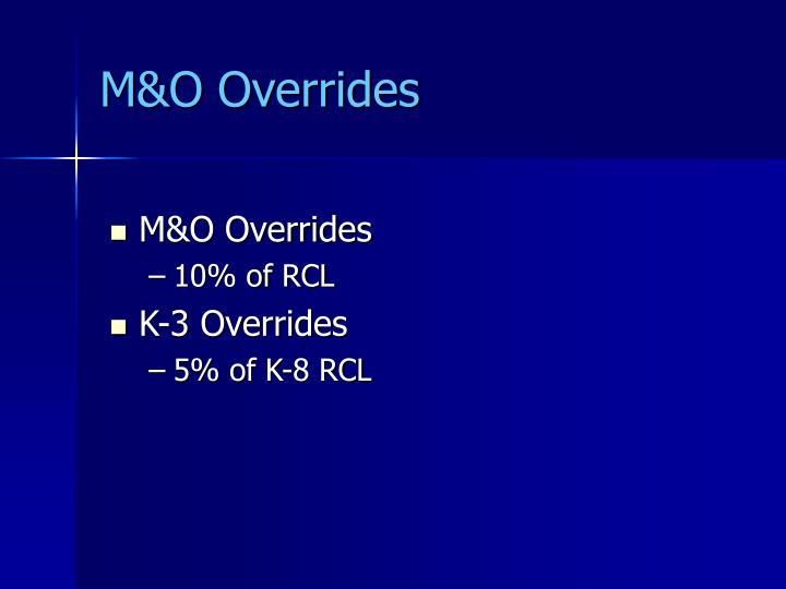 M&O Overrides