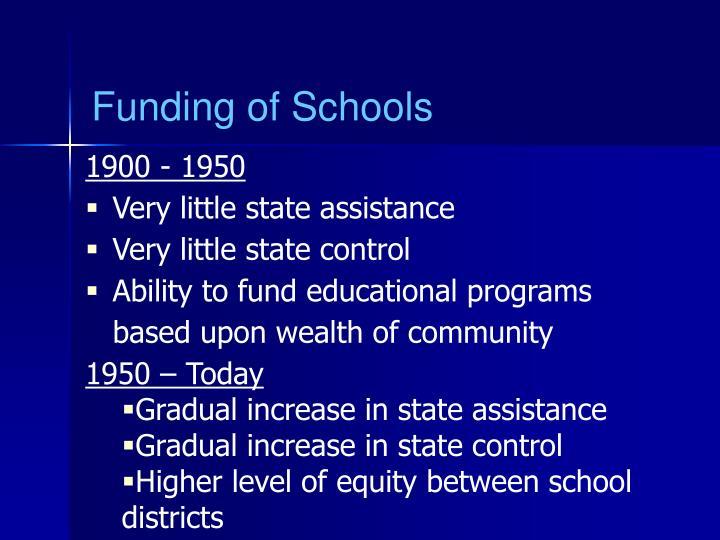 Funding of Schools