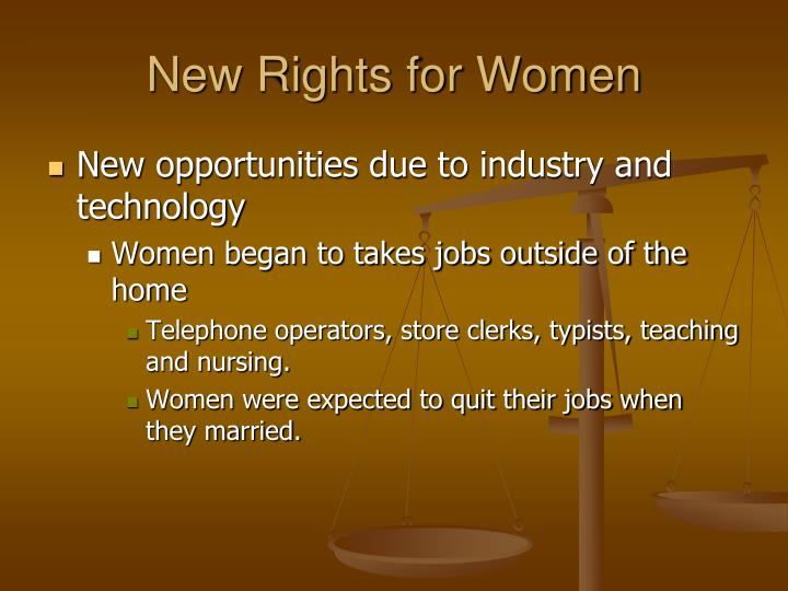 New Rights for Women
