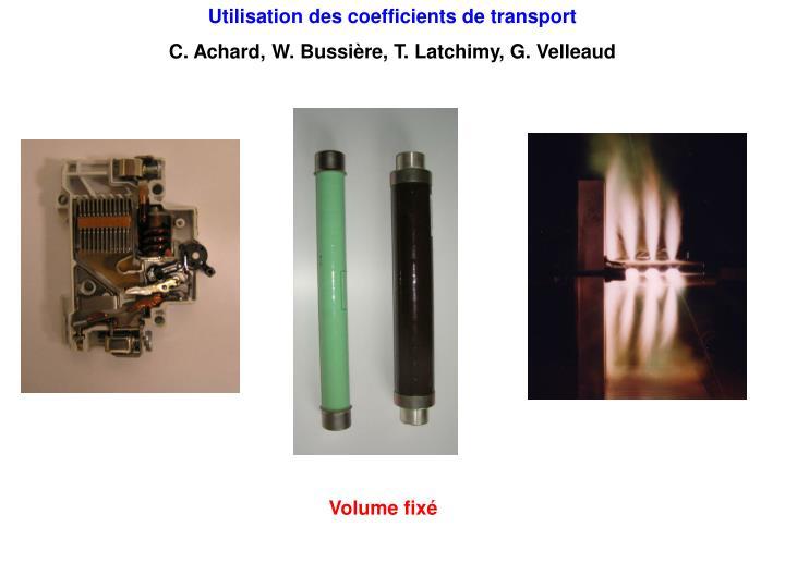 Utilisation des coefficients de transport