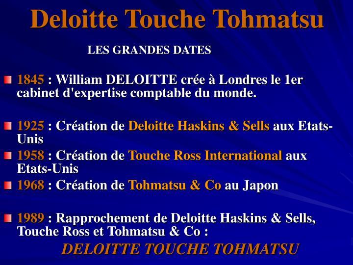 Deloitte Touche Tohmatsu
