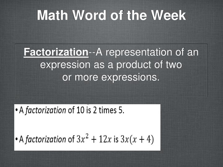 Math word of the week