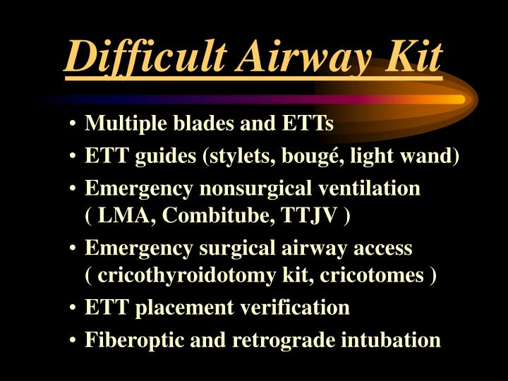 Difficult Airway Kit