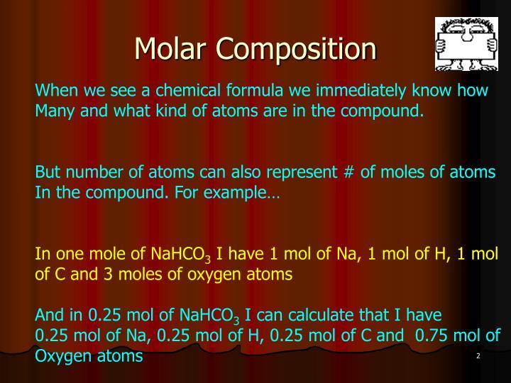 Molar Composition