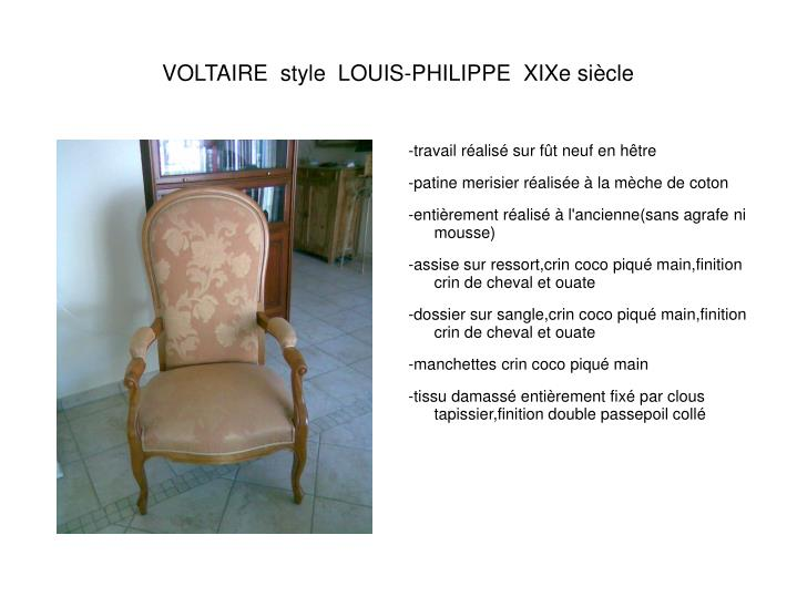 Voltaire style louis philippe xixe si cle