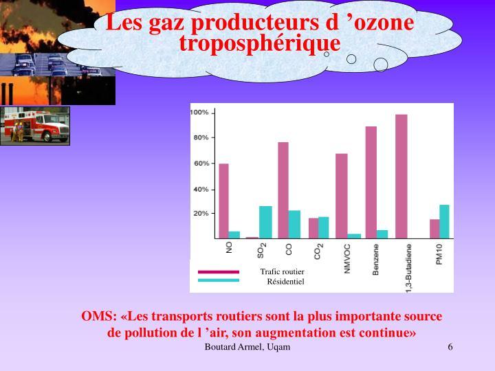 Les gaz producteurs d'ozone troposphérique