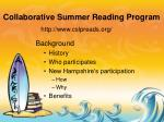 collaborative summer reading program