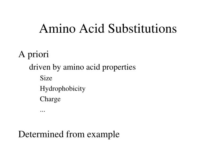 Amino Acid Substitutions