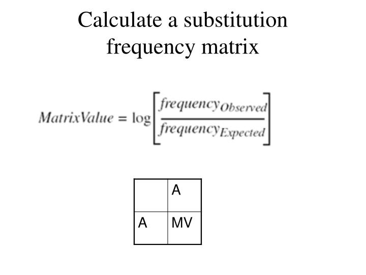 Calculate a substitution frequency matrix