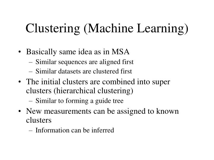 Clustering (Machine Learning)