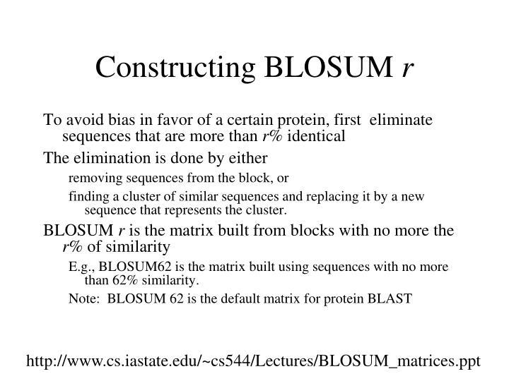 Constructing BLOSUM