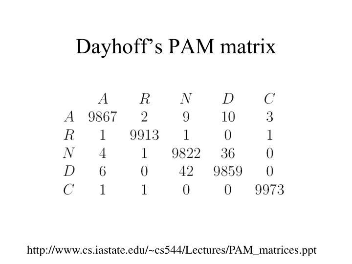 Dayhoff's PAM matrix