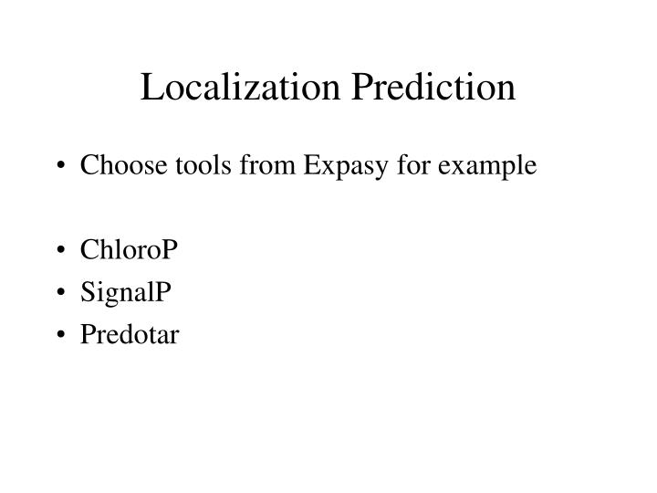 Localization Prediction
