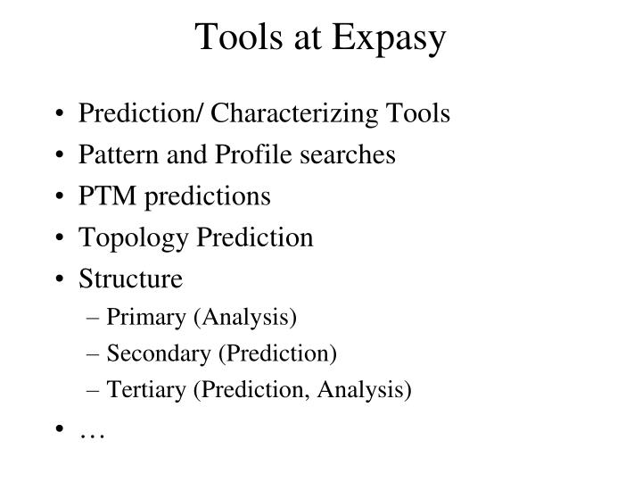 Tools at Expasy
