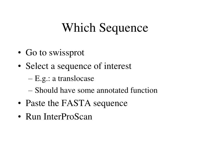Which Sequence