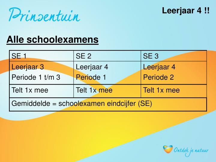 Leerjaar 4 !!