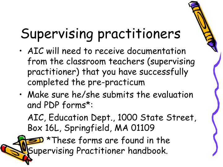 Supervising practitioners