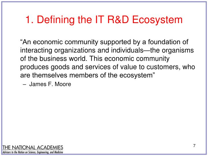 1. Defining the IT R&D Ecosystem