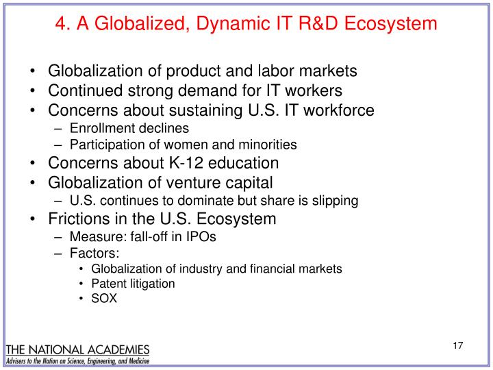 4. A Globalized, Dynamic IT R&D Ecosystem